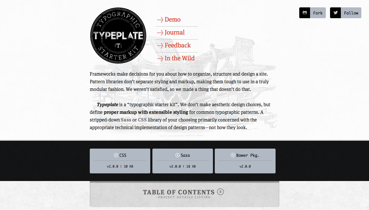 Typeplate website