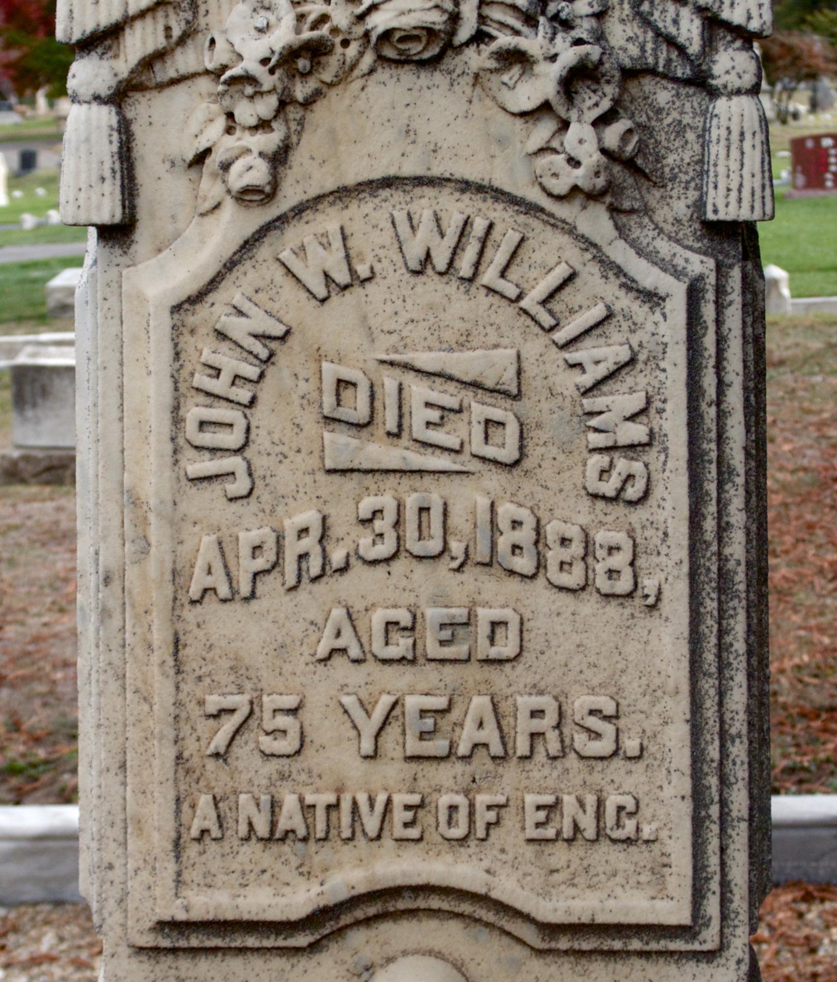 Gravestone lettering
