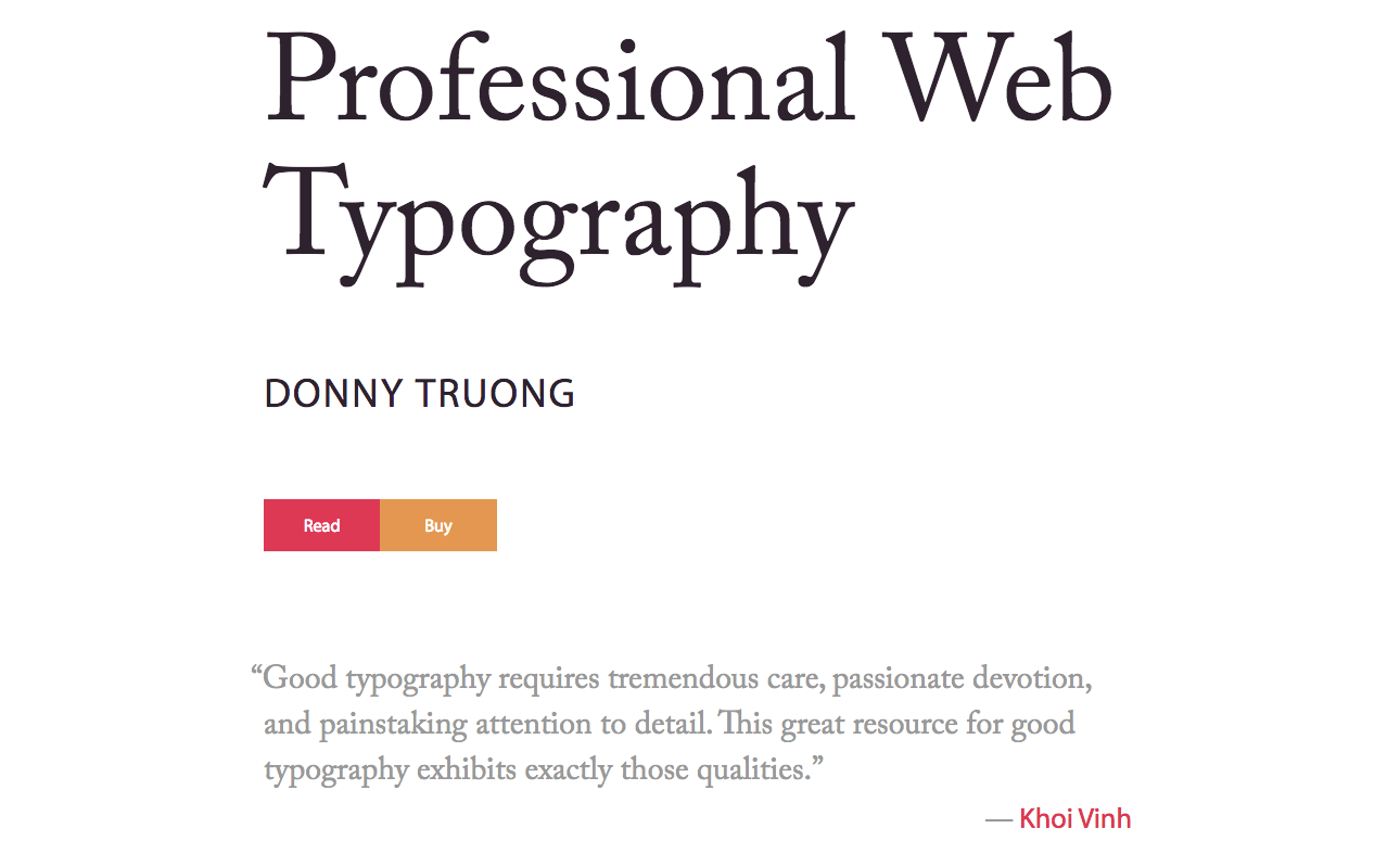 Website for Professional Web Type