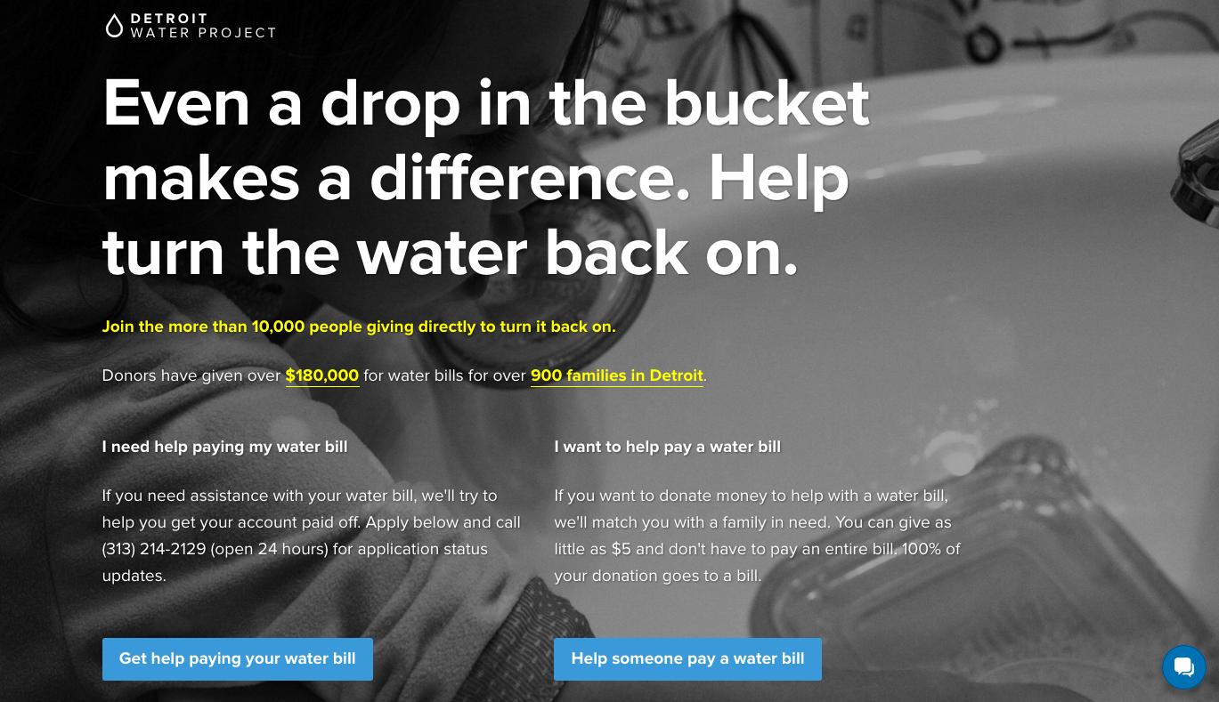 Detroit Water Project website