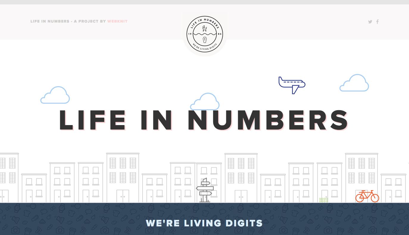 Life in numbers website