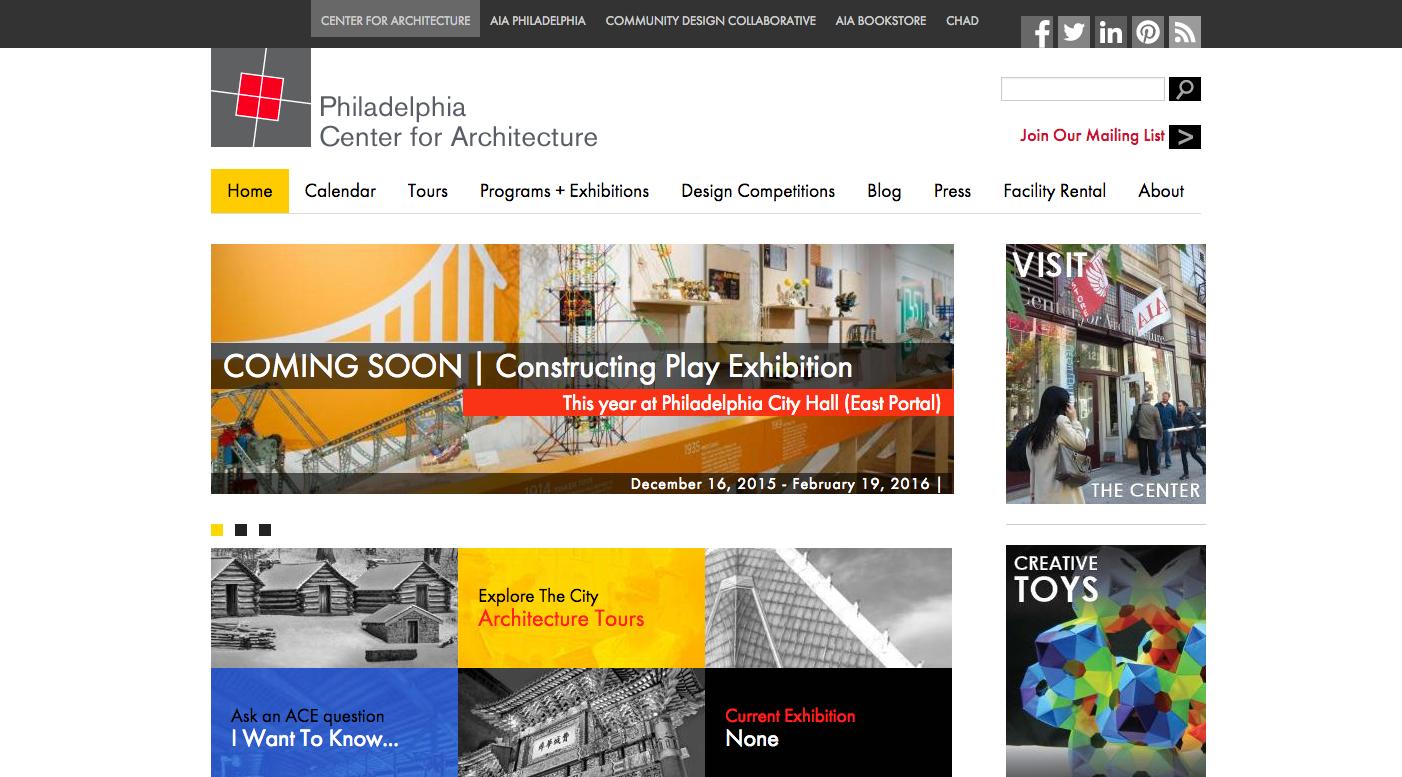 Philadelphia Center for Architecture website