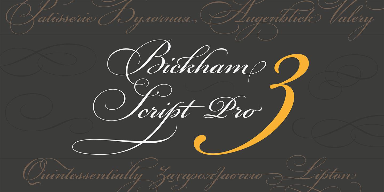 Bickham Script Pro specimen image