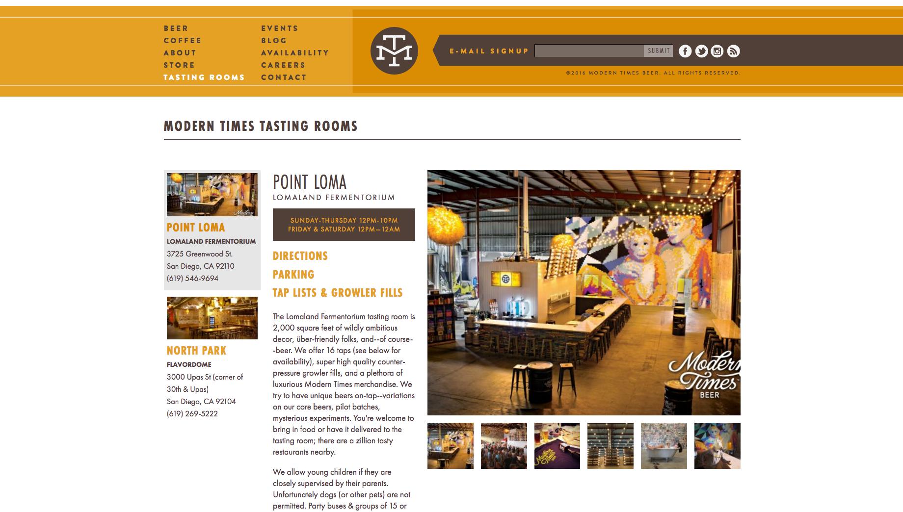 Modern Times website