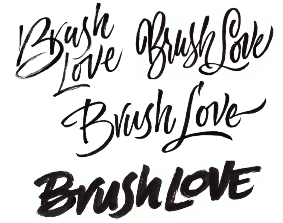 Brush lettering by Laura Worthington