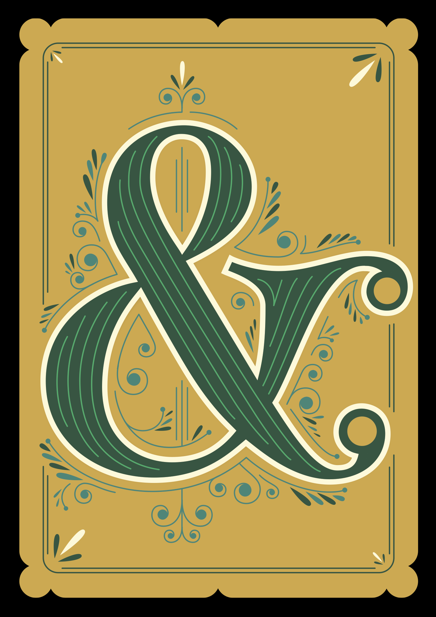 Ampersand design by Martina Flor