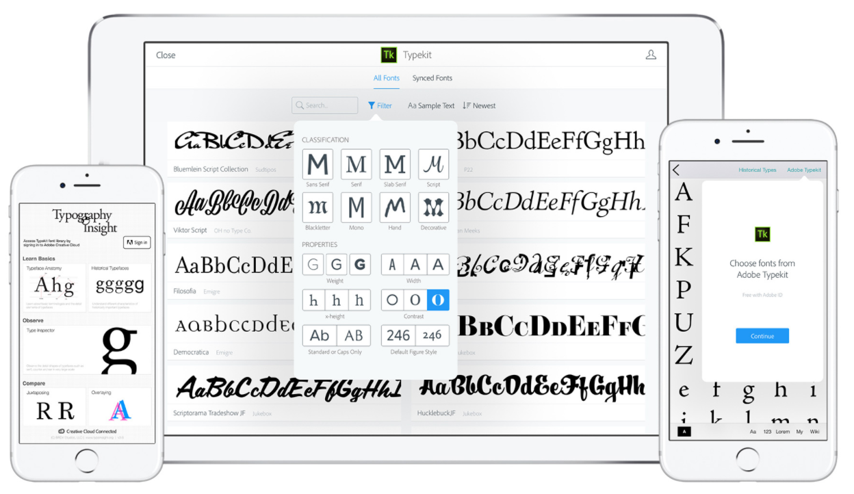 Typography Insights using Typekit