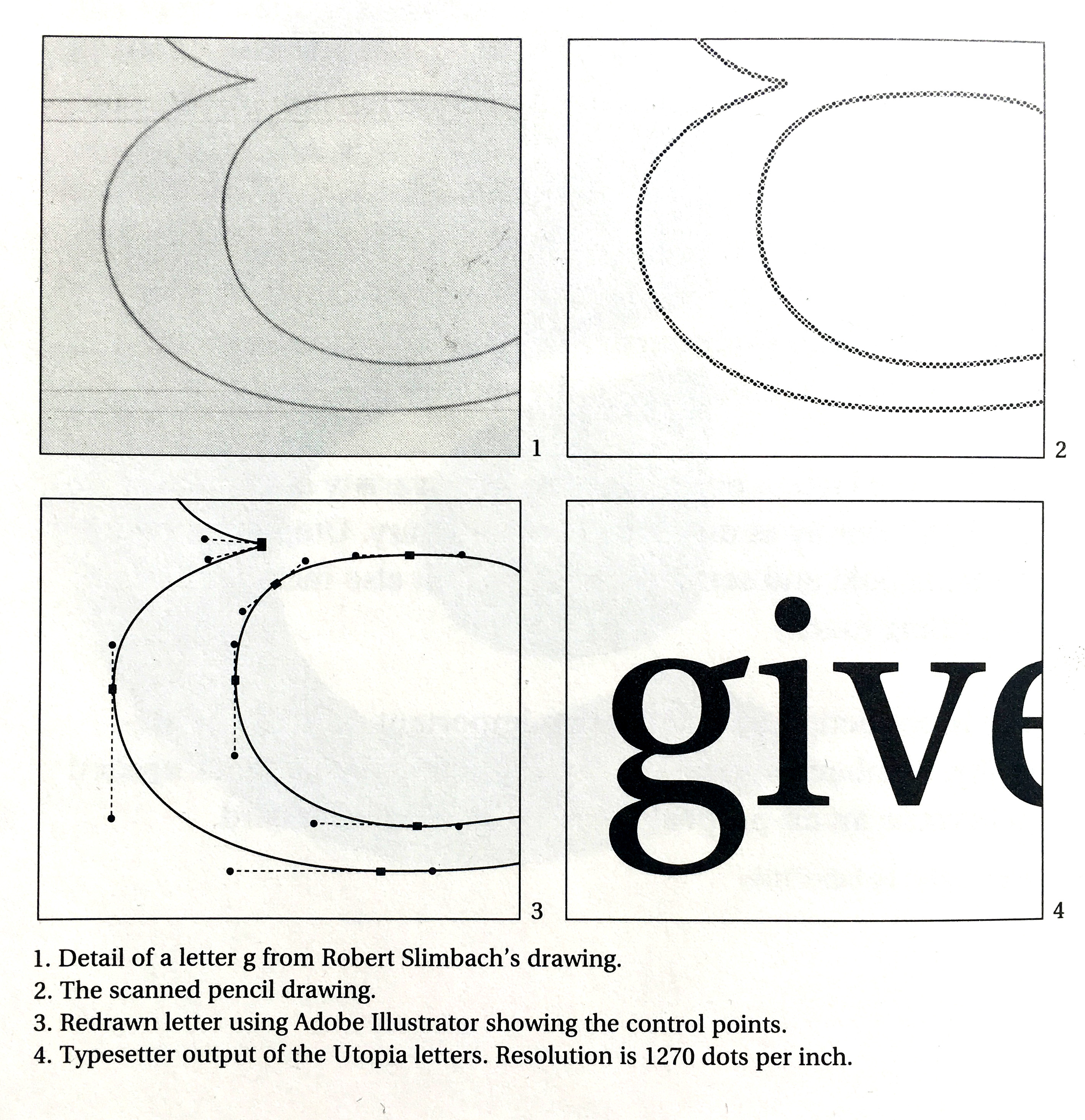 Slimbach's 1989 instructions for using Illustrator in type design.