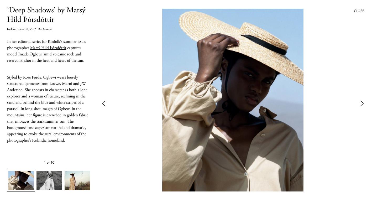 iGNANT website with Adobe Garamond in use
