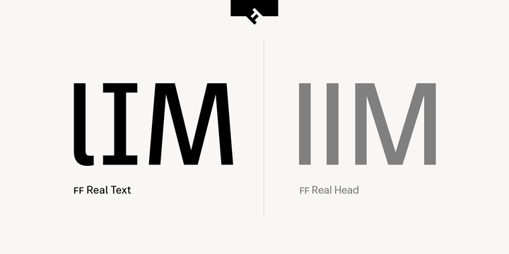 FF Real comparing the Text and Head variants