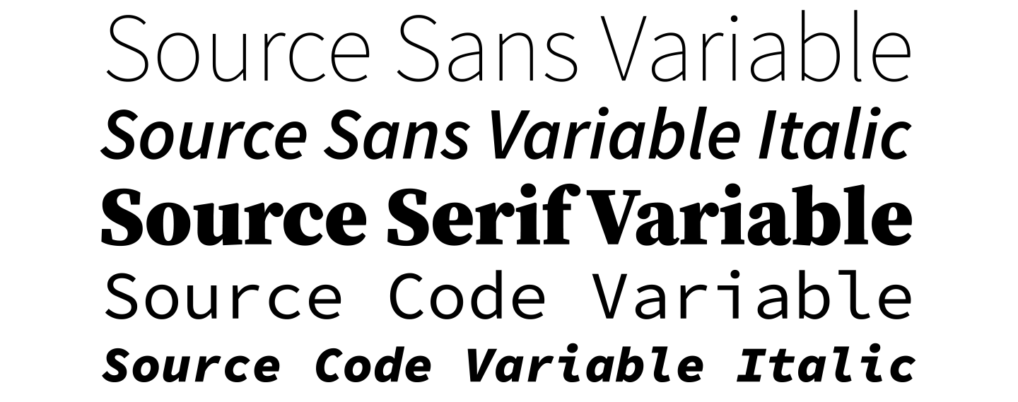Source superfamily variable fonts