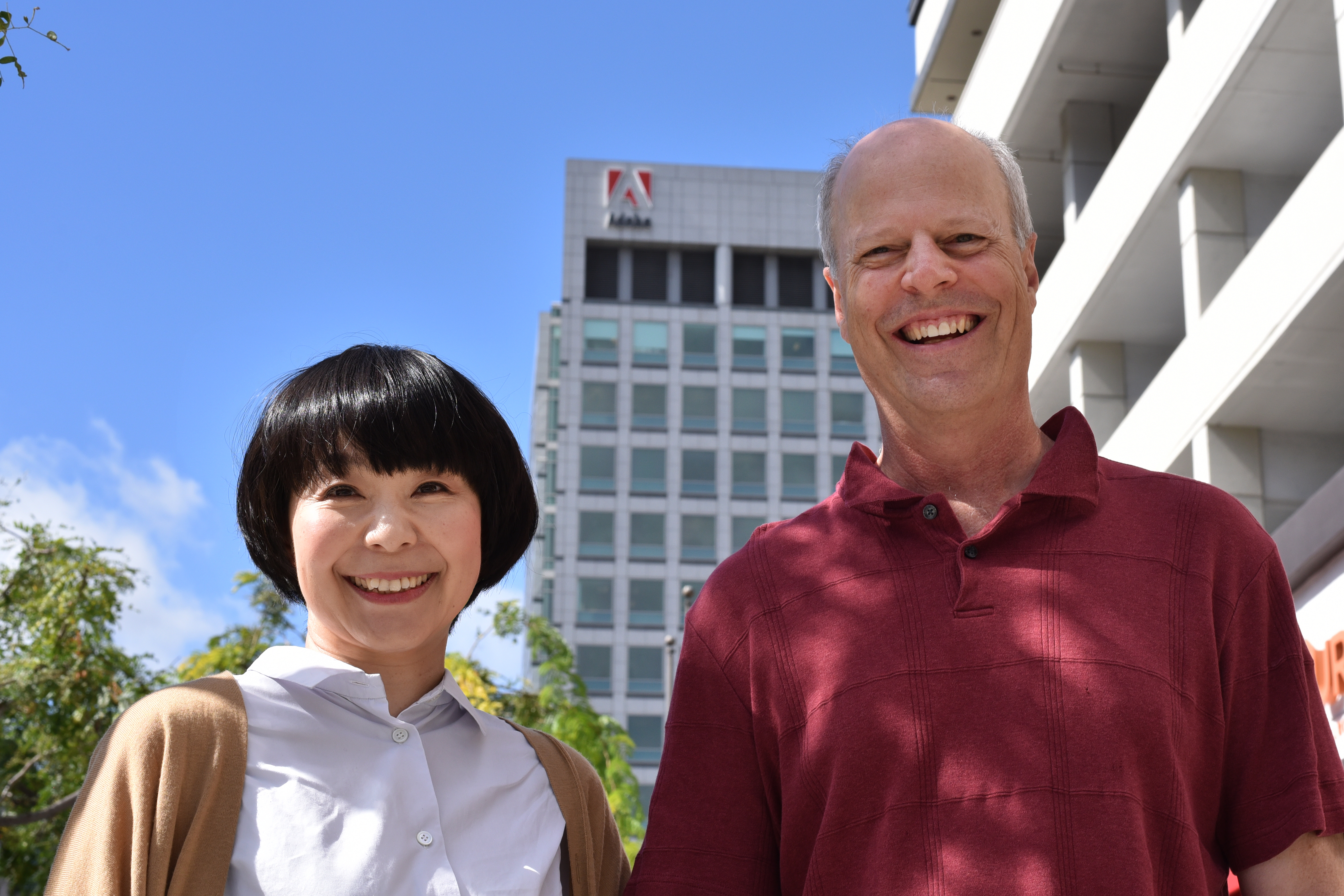 Ryoko Nishizuka and Robert Slimbach at the Adobe San Jose office