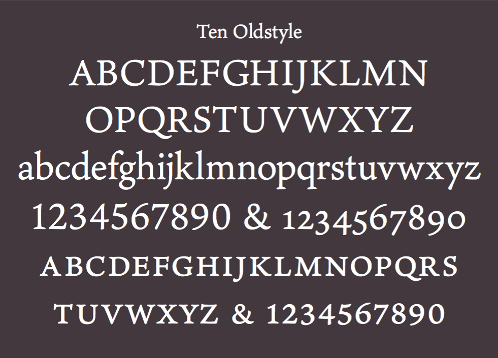 Ten Oldstyle