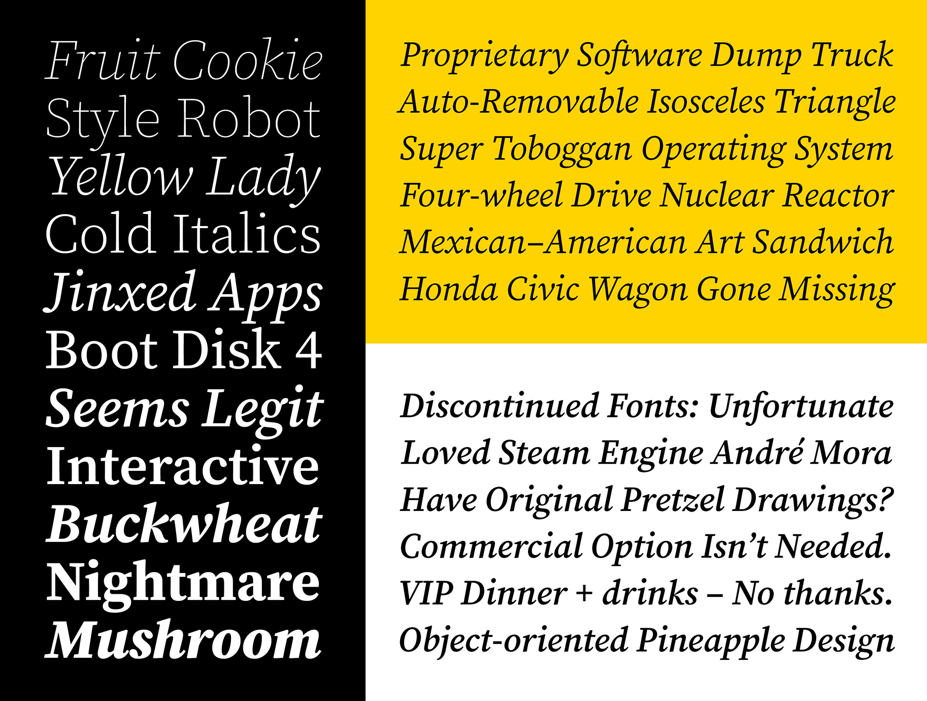 Source Serif with italics