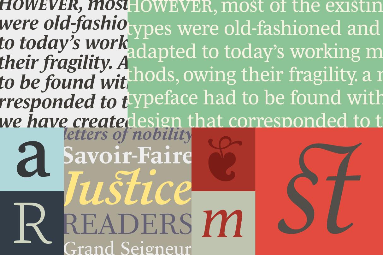 Serifs from Typofonderie
